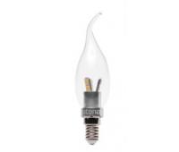 Лампа Iteria Свеча на ветру 4W 4100K E14 прозрачная