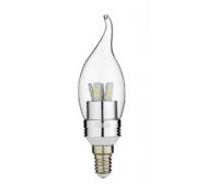 Лампа Iteria Свеча на ветру 6W 4100K E14 прозрачная