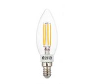 Лампа Iteria Свеча 5W 4100K E14 прозрачная филаментная