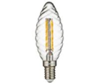 Лампа Iteria Свеча витая 5W 4100K E14 прозрачная филаментная
