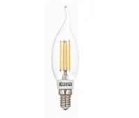 Лампа Iteria Свеча на ветру 5W 4100K E14 прозрачная филаментная